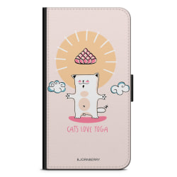 Bjornberry Plånboksfodral OnePlus 6T - Yoga Katt Nr1