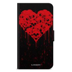 Bjornberry Plånboksfodral Sony Xperia 1 - Skull Heart