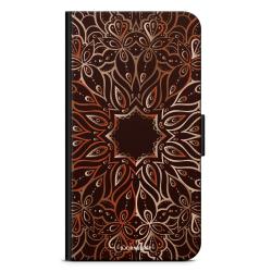 Bjornberry Plånboksfodral Sony Xperia 5 - Bronze Mandala