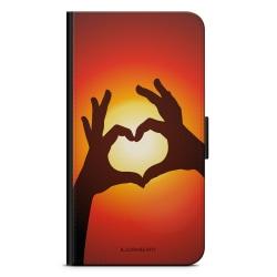 Bjornberry Plånboksfodral Sony Xperia 5 - Hand Hjärta