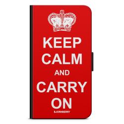 Bjornberry Plånboksfodral Sony Xperia XA1 - Keep calm carry on