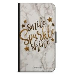 Bjornberry Plånboksfodral Sony Xperia XA2 - Smile,Sparkle,Shine