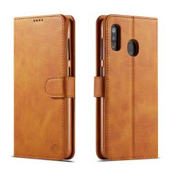 Bjornberry Samsung Galaxy A40 Plånboksfodral - Brun