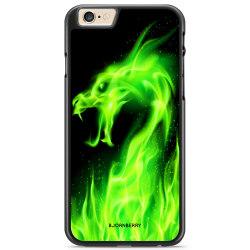 Bjornberry Skal iPhone 6/6s - Grön Flames Dragon