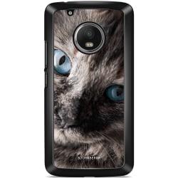 Bjornberry Skal Moto G5 Plus - Katt Blå Ögon