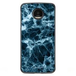 Bjornberry Skal Motorola Moto G5S Plus - Blå Marmor