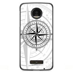 Bjornberry Skal Motorola Moto Z - Kompass Vit