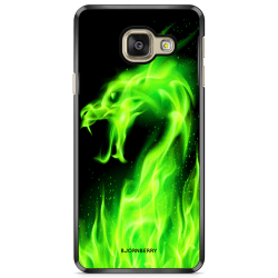 Bjornberry Skal Samsung Galaxy A3 7 (2017)- Grön Flames Dragon