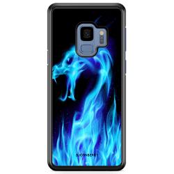 Bjornberry Skal Samsung Galaxy A8 (2018) - Blå Flames Dragon