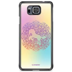 Bjornberry Skal Samsung Galaxy Alpha - Regnbågsenhörning