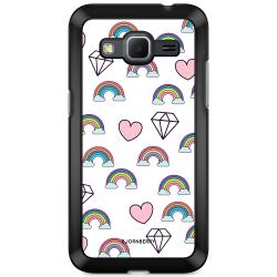 Bjornberry Skal Samsung Galaxy Core Prime - Regnbågar Diamanter