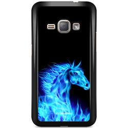Bjornberry Skal Samsung Galaxy J1 (2016) - Flames Horse Blå