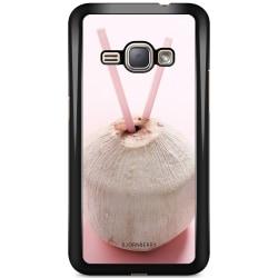 Bjornberry Skal Samsung Galaxy J1 (2016) - Rosa Kokosnöt