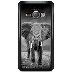 Bjornberry Skal Samsung Galaxy J1 (2016) - Svart/Vit Elefant