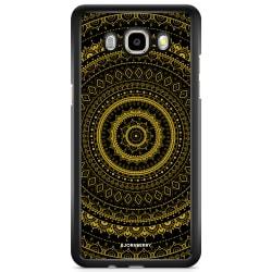 Bjornberry Skal Samsung Galaxy J3 (2016) - Svart Guld Mandala