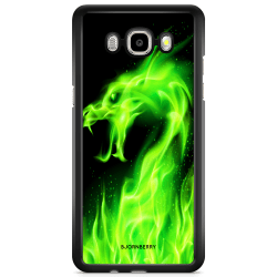 Bjornberry Skal Samsung Galaxy J5 (2016) - Grön Flames Dragon