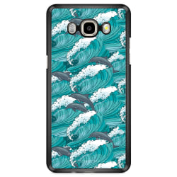 Bjornberry Skal Samsung Galaxy J7 (2016) - Vågor & Delfiner