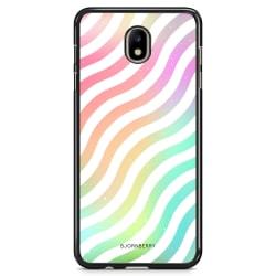 Bjornberry Skal Samsung Galaxy J7 (2017) - Vågig Regnbåge