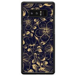 Bjornberry Skal Samsung Galaxy Note 8 - Mörkblå Blommor