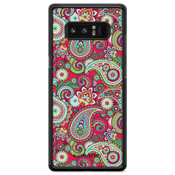 Bjornberry Skal Samsung Galaxy Note 8 - Röd Paisley