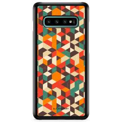 Bjornberry Skal Samsung Galaxy S10 - Retro Geometri