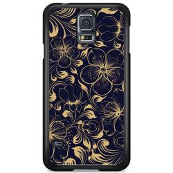 Bjornberry Skal Samsung Galaxy S5 Mini - Mörkblå Blommor