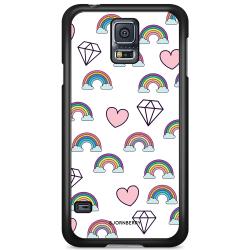 Bjornberry Skal Samsung Galaxy S5 Mini - Regnbågar Diamanter