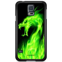 Bjornberry Skal Samsung Galaxy S5/S5 NEO - Grön Flames Dragon