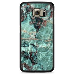Bjornberry Skal Samsung Galaxy S6 Edge - Grön Marmor