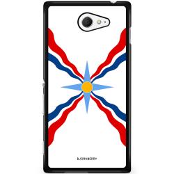 Bjornberry Skal Sony Xperia M2 Aqua - Assyriska flaggan