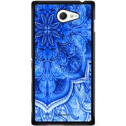 Bjornberry Skal Sony Xperia M2 Aqua - Blå Vintage