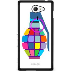 Bjornberry Skal Sony Xperia M2 Aqua - Färg Handgranat