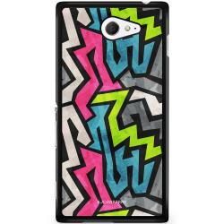 Bjornberry Skal Sony Xperia M2 Aqua - Grunge Graffiti