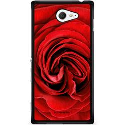Bjornberry Skal Sony Xperia M2 Aqua - Röd Ros