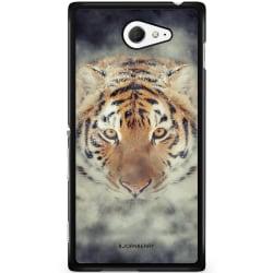 Bjornberry Skal Sony Xperia M2 Aqua - Tiger Rök