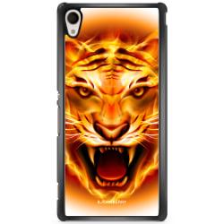 Bjornberry Skal Sony Xperia M4 Aqua - Flames Tiger