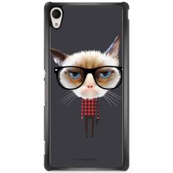 Bjornberry Skal Sony Xperia M4 Aqua - Hipster Katt