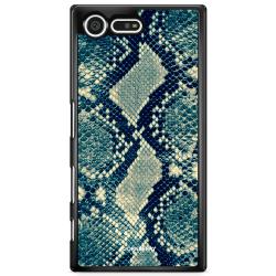 Bjornberry Skal Sony Xperia XZ Premium - Blå Ormskinn