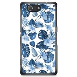 Bjornberry Skal Sony Xperia Z3 Compact - Blå Blommor