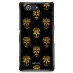Bjornberry Skal Sony Xperia Z3 Compact - Gold Skulls
