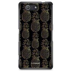 Bjornberry Skal Sony Xperia Z3 Compact - Guldiga Ananas