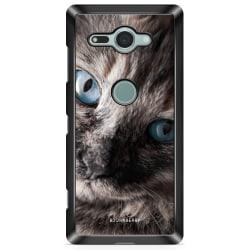 Bjornberry Sony Xperia XZ2 Compact Skal - Katt Blå Ögon
