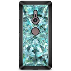 Bjornberry Sony Xperia XZ2 Skal - Gröna Kristaller