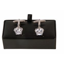 Manschettknappar Diamonds silver