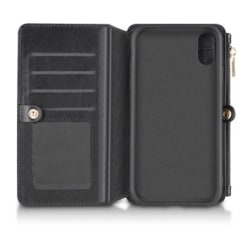 Andersson Leather Wallet Case Black till iPhone XR