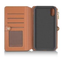Andersson Leather Wallet Case Brown till iPhone XR