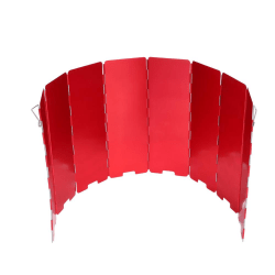 8 Plate Foldable Stove Windshield Outdoor Camping Accessory  red