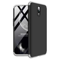 Mobilskal Oneplus 6T Svart/Silver Full-Cover