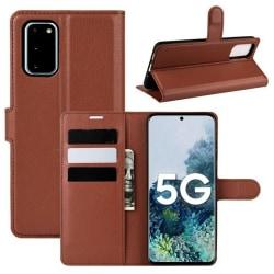 Plånboksfodral Samsung Galaxy S20 FE Brun Med Ställ