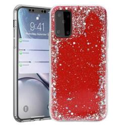 Samsung Galaxy S20 FE Skal Glitter Röd